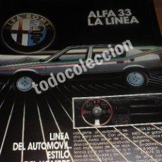 Coches y Motocicletas: PUBLICIDAD ALFA 33 - AÑO 1984 - ALFA ROMEO. Lote 113120051