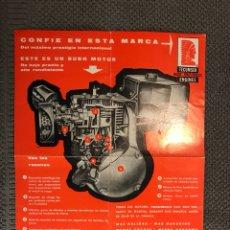 Coches y Motocicletas: TECUMSEH ENGINES. PUBLICIDAD MOTORES (H.1970?). Lote 113288042
