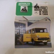 Coches y Motocicletas: MERCEDES BENZ N-1000 N-1300 FURGONETA MEVOSA HOJA TÉCNICA. Lote 113333435