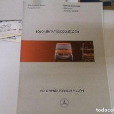 Coches y Motocicletas: MERCEDES BENZ FURGONETAS FOLLETO ORIGINAL HOJAS DE DATOS TÉCNICOS. Lote 113334051