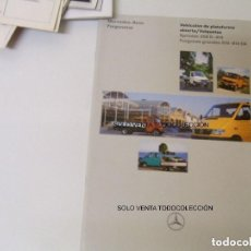 Coches y Motocicletas: MERCEDES BENZ FURGONETA FOLLETO ORIGINAL HOJAS DE DATOS TÉCNICOS. Lote 113334215