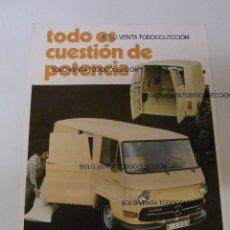 Coches y Motocicletas: MERCEDES BENZ N-1000 N-1300 FURGONETA MEVOSA HOJA TÉCNICA PUBLICIDAD. Lote 113334611