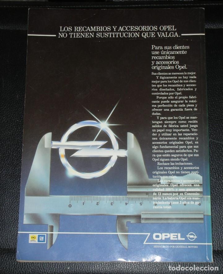 Coches y Motocicletas: OPEL KADETT GUIA TASACIONES MANUAL DE TALLER - JULIO 1991, TOMO II - COCHE MODELO KADET - Foto 2 - 113403923