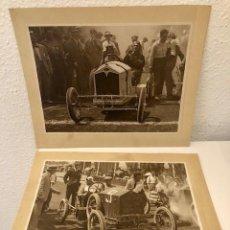 Coches y Motocicletas: 2 FOTOGRAFIAS CARRERAS COCHES AÑOS 20 FOTOGRAFO CLARET . Lote 113416559