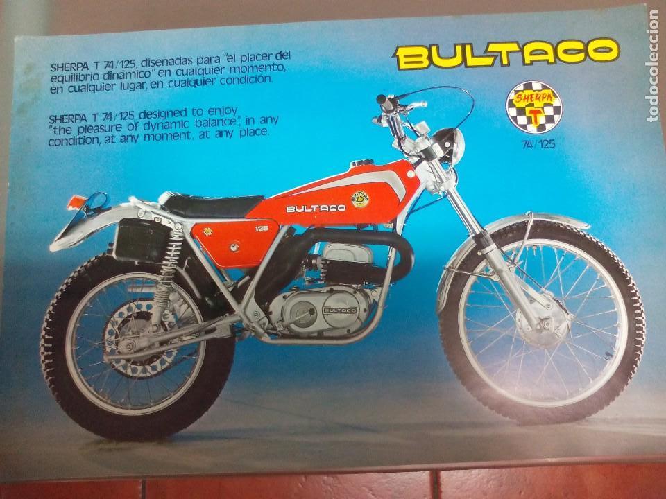 BULTACO SHERPA 74125 (Coches y Motocicletas Antiguas y Clásicas - Catálogos, Publicidad y Libros de mecánica)