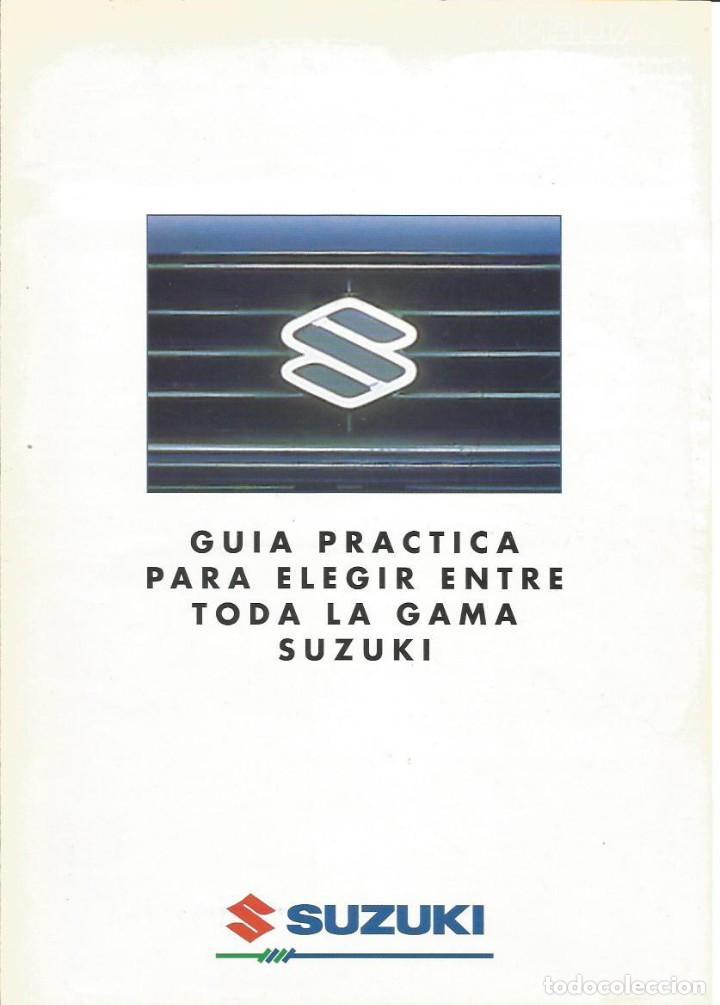 GAMA SUZUKI SAMURAI VITARA SWIFT BALENO ALTO WAGONR (Coches y Motocicletas Antiguas y Clásicas - Catálogos, Publicidad y Libros de mecánica)
