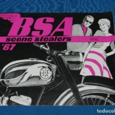 Coches y Motocicletas: CATALOGO MOTOS BSA 1967 , ILUSTRADO, 8 PAG, 25'5 X 20'5 CM,. Lote 113840443