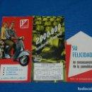 Coches y Motocicletas: CATALOGO VESPA MODELO S 1960 , DESPLEGABLE Y ILUSTRADO - MOTO VESPA MADRID . Lote 113840903