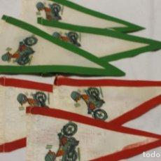Coches y Motocicletas: LOTE 6 BANDERINES MOTO MONTESA IMPALA, AÑOS 60. Lote 134272010