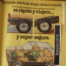 Coches y Motocicletas: PUBLICIDAD SEAT PANDA - AÑO 1980. Lote 114039559