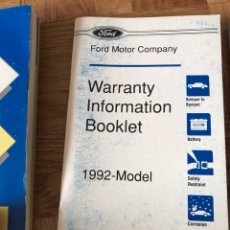 Coches y Motocicletas: FORD EXPLORER 1992 MANUALES DE USUARIO Y DOCUMENTOS VARIOS.. Lote 114170803