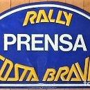 Coches y Motocicletas: PLACA ACREDITACIÓN COCHE DE PRENSA RALLY COSTA BRAVA 1987. Lote 114367111