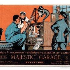 Coches y Motocicletas: PUBLICIDAD GARAJE MAJESTIC. SALÓN DE VENTAS AUTOMÓVILES STEYR GENESTIN SIZAIRE FRERES. BCN AÑOS 20. Lote 114385879