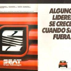 Coches y Motocicletas: SEAT IBIZA PRIMER EXPORTADOR ESPAÑOL 1989 DESPLEGABLE DE 8 PÁGINAS ESPAÑOL . Lote 114837807