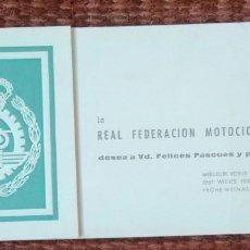 Coches y Motocicletas: REAL FEDERACION MOTOCICLISTA ESPAÑOLA - TARJETA DE FELICITACION NAVIDEÑA. Lote 114956815