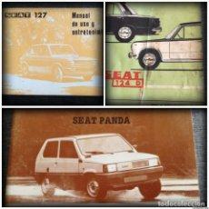 Cars and Motorcycles - LOTE 3 MANUALES SEAT: 124 D, 127, PANDA - MANUAL DE USO Y ENTRETENIMIENTO - 115029859