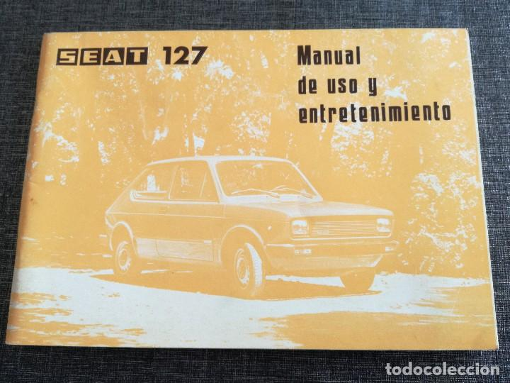 Coches y Motocicletas: LOTE 3 MANUALES SEAT: 124 D, 127, PANDA - MANUAL DE USO Y ENTRETENIMIENTO - Foto 2 - 115029859