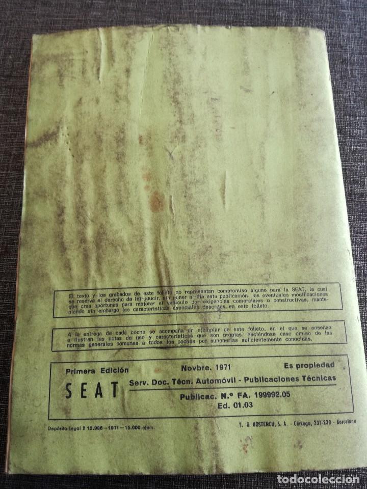 Coches y Motocicletas: LOTE 3 MANUALES SEAT: 124 D, 127, PANDA - MANUAL DE USO Y ENTRETENIMIENTO - Foto 20 - 115029859