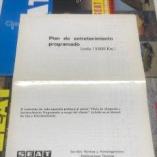 Coches y Motocicletas - SEAT. PLAN DE ENTRETENIMIENTO PROGRAMADO - 115037010