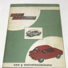 Coches y Motocicletas: SEAT 850 ESPECIAL. USO Y ENTRETENIMIENTO. Lote 115140048