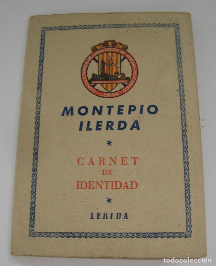 (ALB-TC-19) CARNET DE IDENTIDAD MONTEPIO ILERDA LERIDA1948 (Coches y Motocicletas Antiguas y Clásicas - Catálogos, Publicidad y Libros de mecánica)
