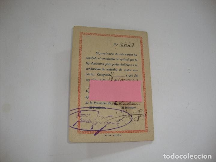 Coches y Motocicletas: (ALB-TC-19) CARNET DE IDENTIDAD MONTEPIO ILERDA LERIDA1948 - Foto 3 - 115286407