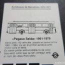 Coches y Motocicletas: IMAGEN PEGASO SEIDA EN TARJETA RESISTIVA AUTOBUS DE BARCELONA AÑOS 90. Lote 115317423