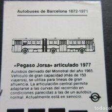 Coches y Motocicletas: IMAGEN PEGASO 6035 A EN TARJETA RESISTIVA AUTOBUS DE BARCELONA AÑOS 90. Lote 115317503