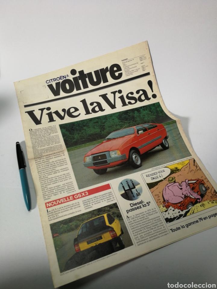 CITROEN VOITURE. VIVE LA VISA. (Coches y Motocicletas Antiguas y Clásicas - Catálogos, Publicidad y Libros de mecánica)