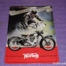 Coches y Motocicletas: PLACA METÁLICA PUBLICIDAD MOTOCICLETA NORTON - REPRODUCCIÓN -. Lote 115396963