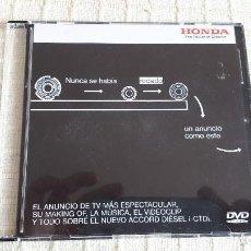 Coches y Motocicletas: DVD - ANUNCIO HONDA ACCORD. Lote 116693683