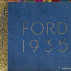 Coches y Motocicletas: CATALOGO LIBRO FORD V8 1935. Lote 116793355