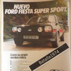 Coches y Motocicletas: PUBLICIDAD FORD FIESTA SUPER SPORT - AÑO 1980. Lote 117437979