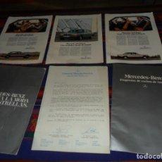 Coches y Motocicletas: CARPETA CATÁLOGO MERCEDES BENZ PROGRAMA COCHES DE TURISMO 1983. CON CARTA COMERCIAL. MUY RARO.. Lote 117534139