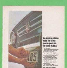 Coches y Motocicletas: PUBLICIDAD 1970. ANUNCIO SEAT 850. ESPECIAL, 4 PUERTAS Y NORMAL. Lote 117866679