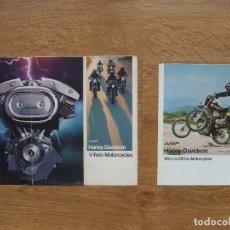 Coches y Motocicletas: HARLEY DAVIDSON CATALOGO FOLLETO PUBLICIDAD AÑOS 70. Lote 117932099