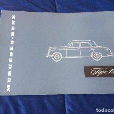 Coches y Motocicletas: MERCEDES BENZ 190 1957 CATALOGO SALES BROCHURE. Lote 118459639