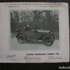 Coches y Motocicletas: CATALOGO COCHES AUTOMOVILES AUSTIN-SOCIEDAD AUTOMECANICA ESPAÑOLA - VER FOTOS - (V-14.317). Lote 118568007