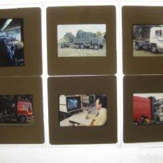 Coches y Motocicletas: LOTE 6 DIAPOSITIVAS PUBLICITARIAS ORIGINAL PEGASO ENASA 35MM AÑO 1985- 7323 5036 PLUS TECNO OBRADORS. Lote 118667187