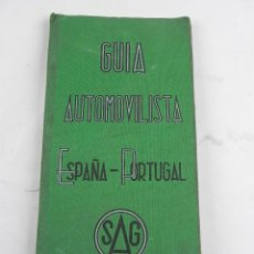 Coches y Motocicletas: GUIA AUTOMOVILISTA ESPAÑA PORTUGAL, ED.SAG, MADRID, INDICADOR GENERAL DE COMUNICACIONES ESPAÑOLAS, T. Lote 118781019