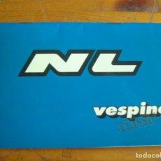 Coches y Motocicletas: MANUAL USUARIO VESPINO NL Y NL.I CLASSIC. Lote 118794095