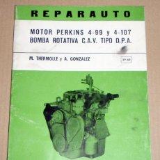 Coches y Motocicletas: REPARAUTO Nº 59 Y 60 MOTOR PERKINS. Lote 119053239