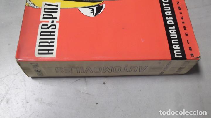 Coches y Motocicletas: MANUAL DE AUTOMOVILES ARIAS PAZ 38 EDICION 1970 REIMPRESION - Foto 2 - 119056459