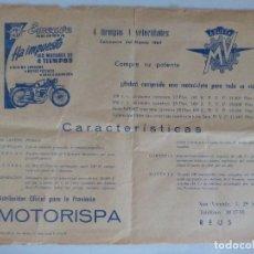 Coches y Motocicletas: MOTO EMEUVE AGUSTA FOLLETO MOTO CLASICA. Lote 119276559