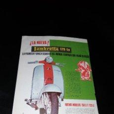 Coches y Motocicletas: LAMBRETTA 175 TV SCOOTER NUEVOS MODELOS 125 LI 125 LI EIBAR RECORTE . Lote 119277135