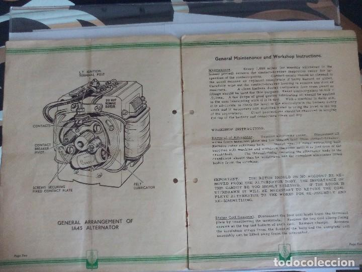 Coches y Motocicletas: Alternador lucas IA45 para motocicletas libro taller moto clasica - Foto 2 - 119277251