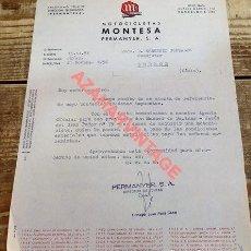 Coches y Motocicletas: CARTA COMERCIAL DE MONTESA A UN CURA DE BORNOS, CADIZ, 1956. Lote 119946611