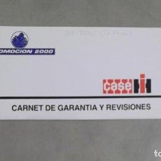 Coches y Motocicletas: TALONARIO CARNET DE GARANTIA Y REVISIONES TRACTOR CASE INTERNATIONAL. Lote 119994763