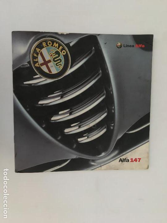 FOLLETO CATALOGO PUBLICIDAD ORIGINAL ALFA ROMEO 147 LINEA (Coches y Motocicletas Antiguas y Clásicas - Catálogos, Publicidad y Libros de mecánica)