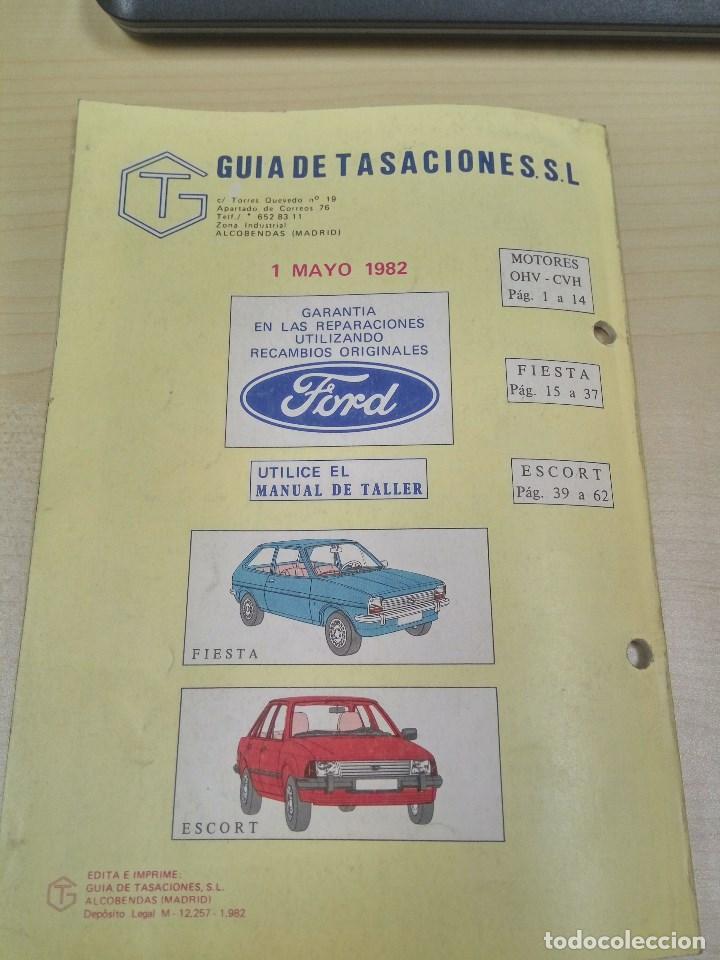 Coches y Motocicletas: GUIA DE TASACIONES FORD FIESTA Y FORD ESCORT 1982 - Foto 5 - 120242419